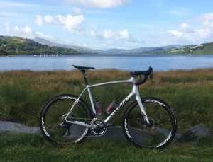 Lake Bala.  And a bike...