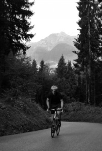The Zoncolan: 11km at an average of 14%. For long sections, it's much steeper than the average.